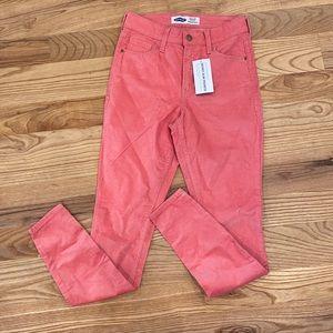 Old navy high waist corduroy skinny pants